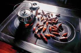 pinhao e cafe no fogao a lenha